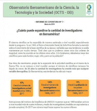 Informe de coyuntura Nº 07: ¿Cuánto puede expandirse la cantidad de investigadores en Iberoamérica?